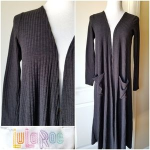 LuLaRoe Sarah Solid Black Ribbed XS Stretchy